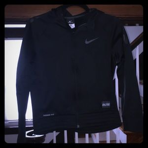 Nike - Elite Full Zip Hoodie - Black - Kids Large